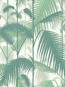 Cole & Son Wallpaper - Palm Jungle - Forest Green/White 95_1002_CS