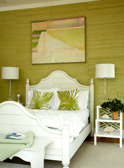 green grasscloth bedroom summer interior decor ideas