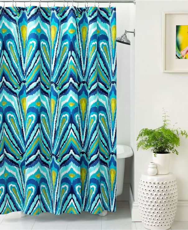 trina turk peacock print fabric interior decor