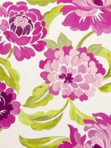 Clarke & Clarke Fabric - Margherita - Fuchsia