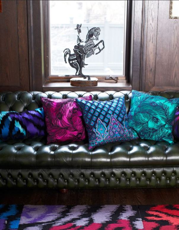feather print pillows nanette lepore interior decor