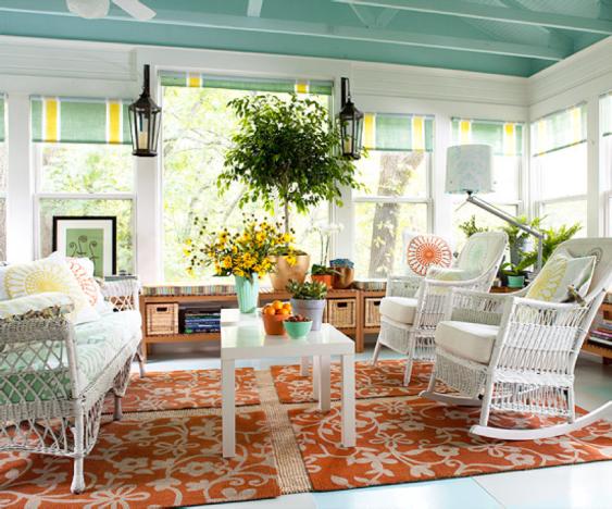 orange floral rug decorating ideas