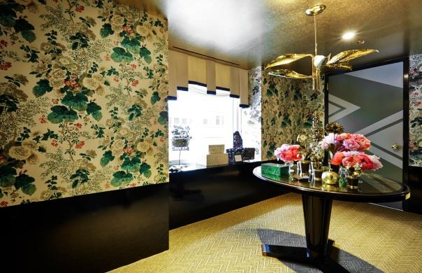 Young Huh Powder Room Kips Bay Decorator Show House 2014 NYC