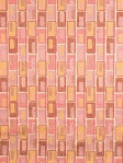 Fabricut Fabric Madison Square Berry Splash Pink orange Abstract Geometric 2436101