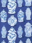Stroheim Fabric Canton Cobalt Blue Vase Dana Gibson