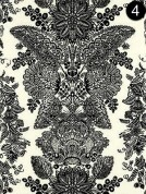 Fabric: Schumacher Lace - Black Ivory 5003320