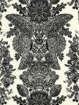 Schumacher Wallpaper Lace Black White 5003320