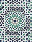 Schumacher Wallpaper Nasrid Palace Mosaic Agegean  5005960