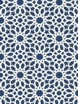 Schumacher Wallpaper Agadir Screen Lapic Geometric Blue5006640