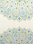 highland Court Fabric Blue Green Mosaic Print 800289H-72