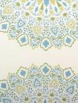 highland Court Fabric Blue Green Mosaic Print 800289H-72