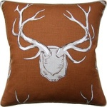 Ryan Studio Pillow - Antlers - Rust