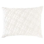 Pine Cone HIll Pillow Candlewick Dove White Continental CDLWDP-28