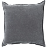 Surya Grey Cotton Pillow cv003