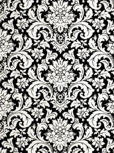 Robert Allen Fabric - Flowering Buds - Caviar