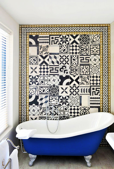 Mosaic Tile Interior Decor Bathroom Patchwork