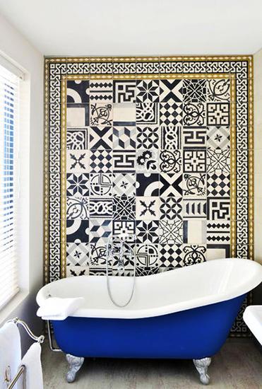 Mosaic Tile Interior Decor Bathroom Patchwork