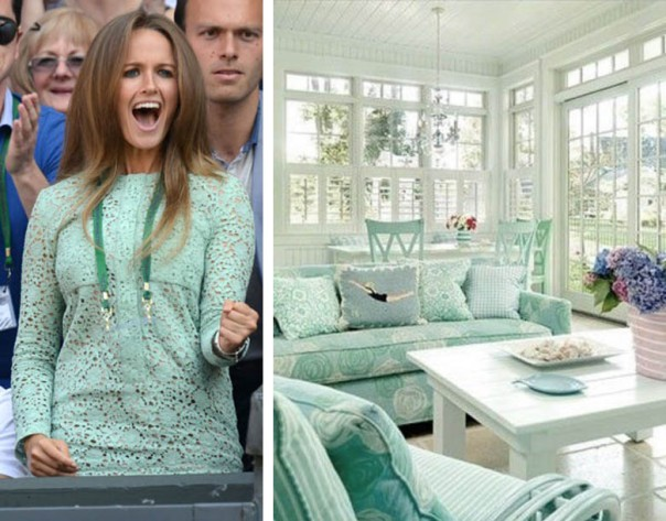 kim sears wimbledon fashion mint green lace dress interior decor hemlock inspiration