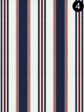 Fabric: Ralph Lauren - Highrock Stripe - Red + White + Blue LCF20853F