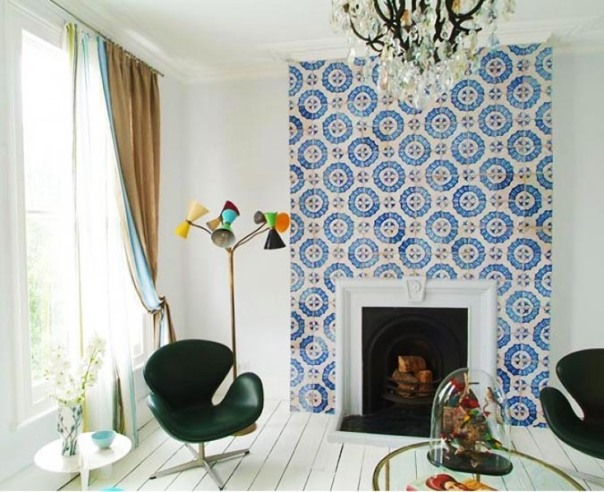 Moroccan Inspired Mosaic Tile Eclectic Interior Decor
