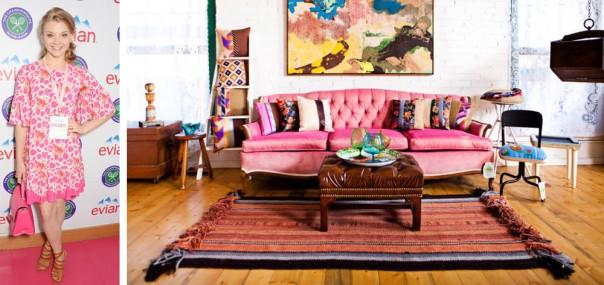 natalie-dormer-pink-dress-wimbledon-interior-decor-inspration