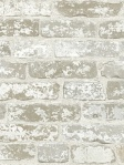 York Wallpaper Up the Wall Faux Brick whiteRB4304