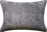 Ryan Studio Pillow - Velvet Keys-651-T greek key velvet