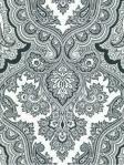 Kravet Black White Damask Wallpaper W3100_81_0