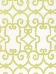 Schumacher Trellis Fabric Manor Gate - Aloe 174150