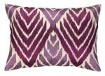 Peking Handicraft Pillow Magenta Ikat 24DL603AC20OB
