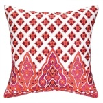 Peking Handicraft Pillow Moroccan Border Coral Embroidered 24NL04DC20SQ