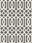 Schumacher Wallpaper Imperial Trellis - Charcoal 5003361