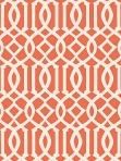 Schumacher Wallpaper Imperial Trellis II - Ivory / Mandarin 5005800