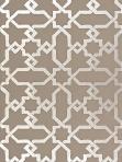 Schumacher Wallpaper Cordoba - Taupe / Silver 5005922