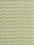Schumacher Fabric - Adari Cotton Ikat - Citron Chevron