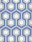 Cole & Son Wallpaper HICKS HEXAGON BLUE/GR 66_8054_CS