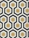 Cole & Son Wallpaper HICKS HEXAGON BLACK/G 66_8056_CS