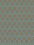 Cole & Son Wallpaper HICKS HEXAGON TEAL/GOLD 95_3018_CS