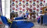 Bright Floral Mixing Prints Interior Decor