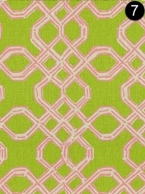 Fabric: Lee Jofa 2011101-73 Well Connected - Pink/Green