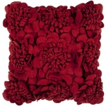 Surya Pillow - fa084 Red Floral