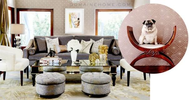 Jessica Alba Home Living Room Interior Decor