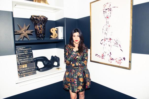 Kourtney Kardashian at Home Interior Decor