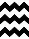 dash & Albert Rug - Chevron Black/White - Indoor/Outdoor - RDB227