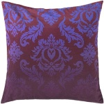 Surya Purple Damask Throw Pillow sy013