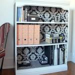Weekend Project- DIY Wallpapered Bookshelf