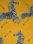 Scalamandre Wallpaper Zebras - Yellow WP81388M-006