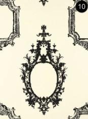 Schumacher Wallpaper - Go Baroque - Noir & Blanc - 5003290