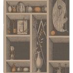 Cole & Son Wallpaper - Nicchie Linen & Gold - 97_11035_CS