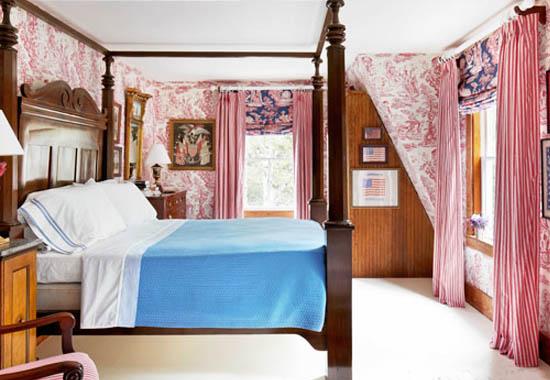 American Patriotic Toile Interior Decor Bedroom